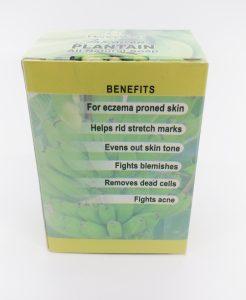 plantain soap BACK